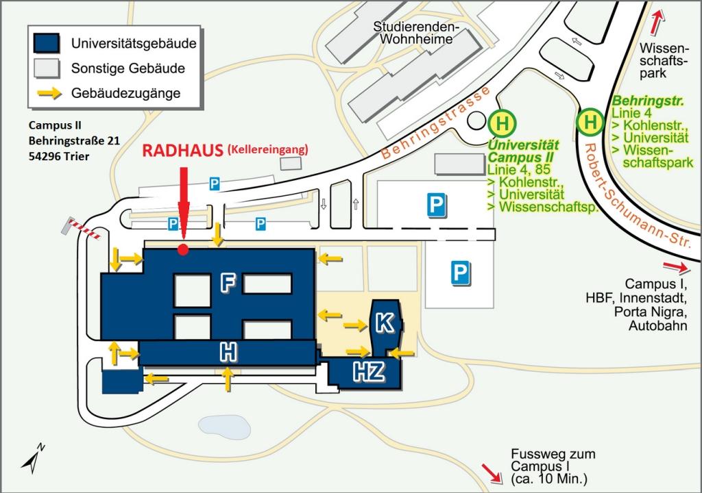 Radhaus Wegbeschreibung